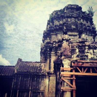 An entrance to the Angkor Wat temple