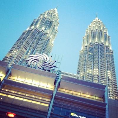 Sunset view of the KLCC in Kuala Lumpur, Malaysia