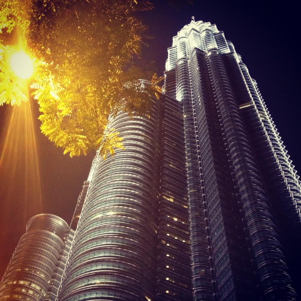 Night view of the KLCC in Kuala Lumpur, Malaysia