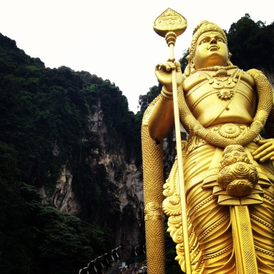 Buddha at the Batu Caves, Kuala Lumpur, Malaysia
