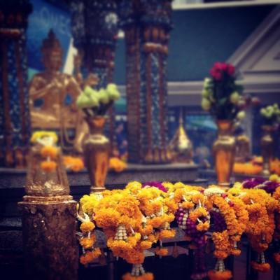 The Four-Faced Buddha in Bangkok