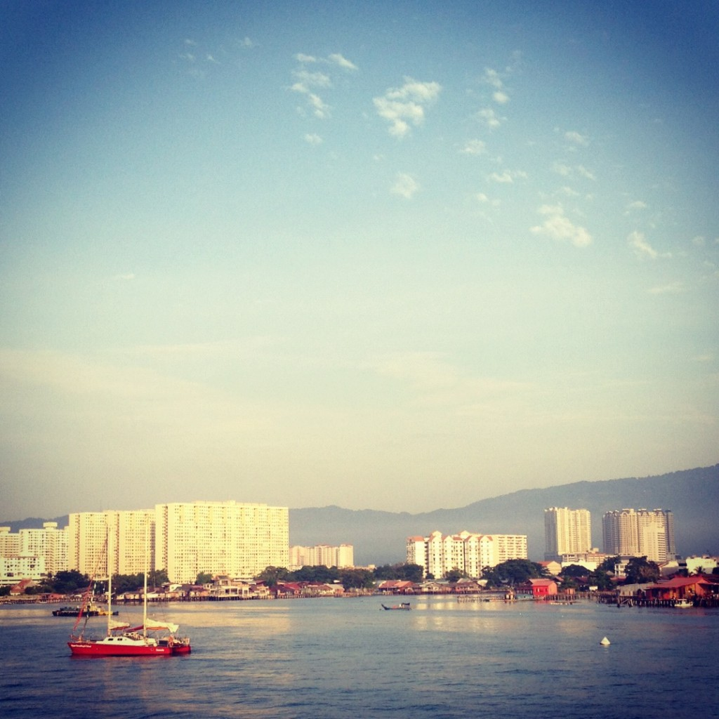 View from the ferry to Penang, Malaysia