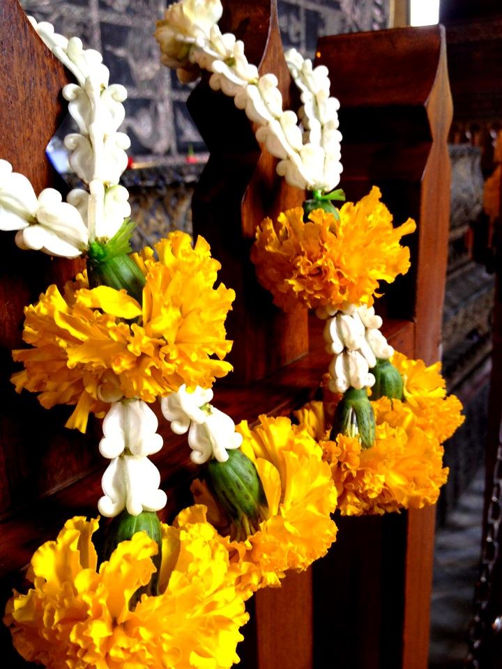 Wreaths in Wat Pho