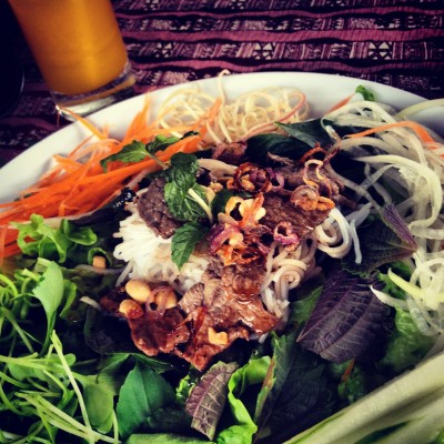 Dish #2 of cooking lesson in Hoi An: Vermicelli salad