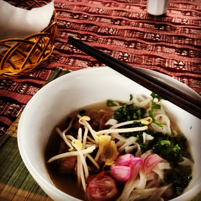 Dish #3 of cooking lesson in Hoi An: Beef noodles