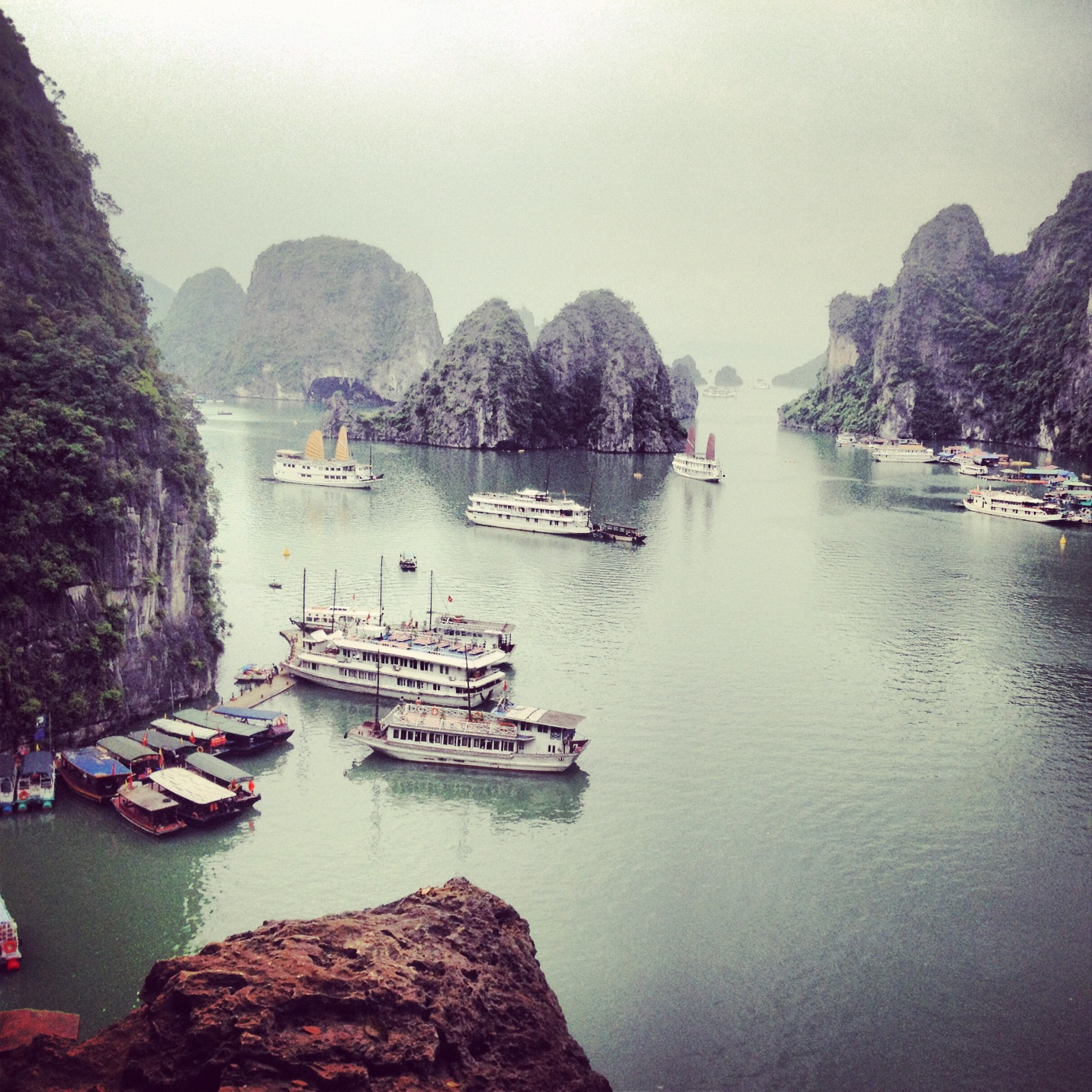 View from in the mountains, Halong Bay, Vietnam