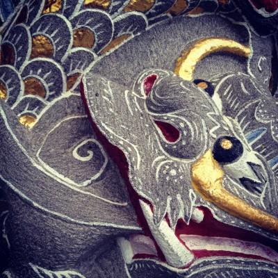 Dragon detail at the Wen Wu Temple near the Sun Moon Lake in Taiwan