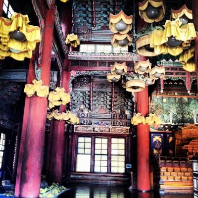Inside one of the Bulguksa Temples in Gyeongju