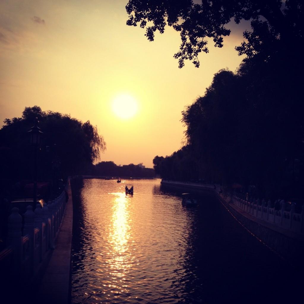 Sunset by Houhai Lake
