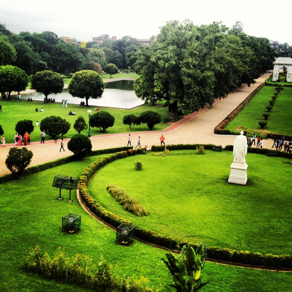 View from the second floor of the Victoria Memorial