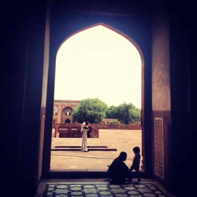 Family visit to the Humayun Tomb