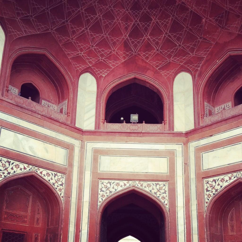 The entrance to the Taj Mahal