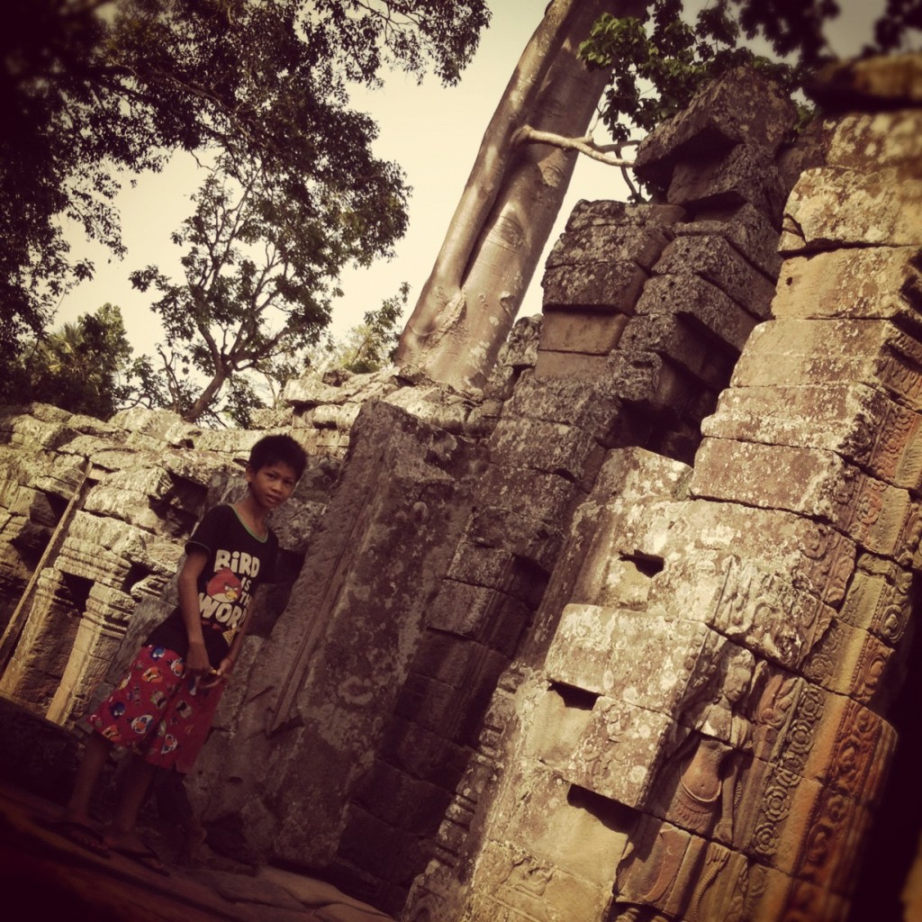 Makara, who loves Tomb Raider, at Angkor Wat, Cambodia