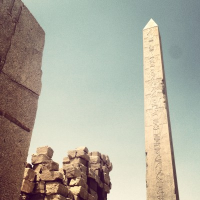 Fantastically preserved obelisk in the Karnak Temple