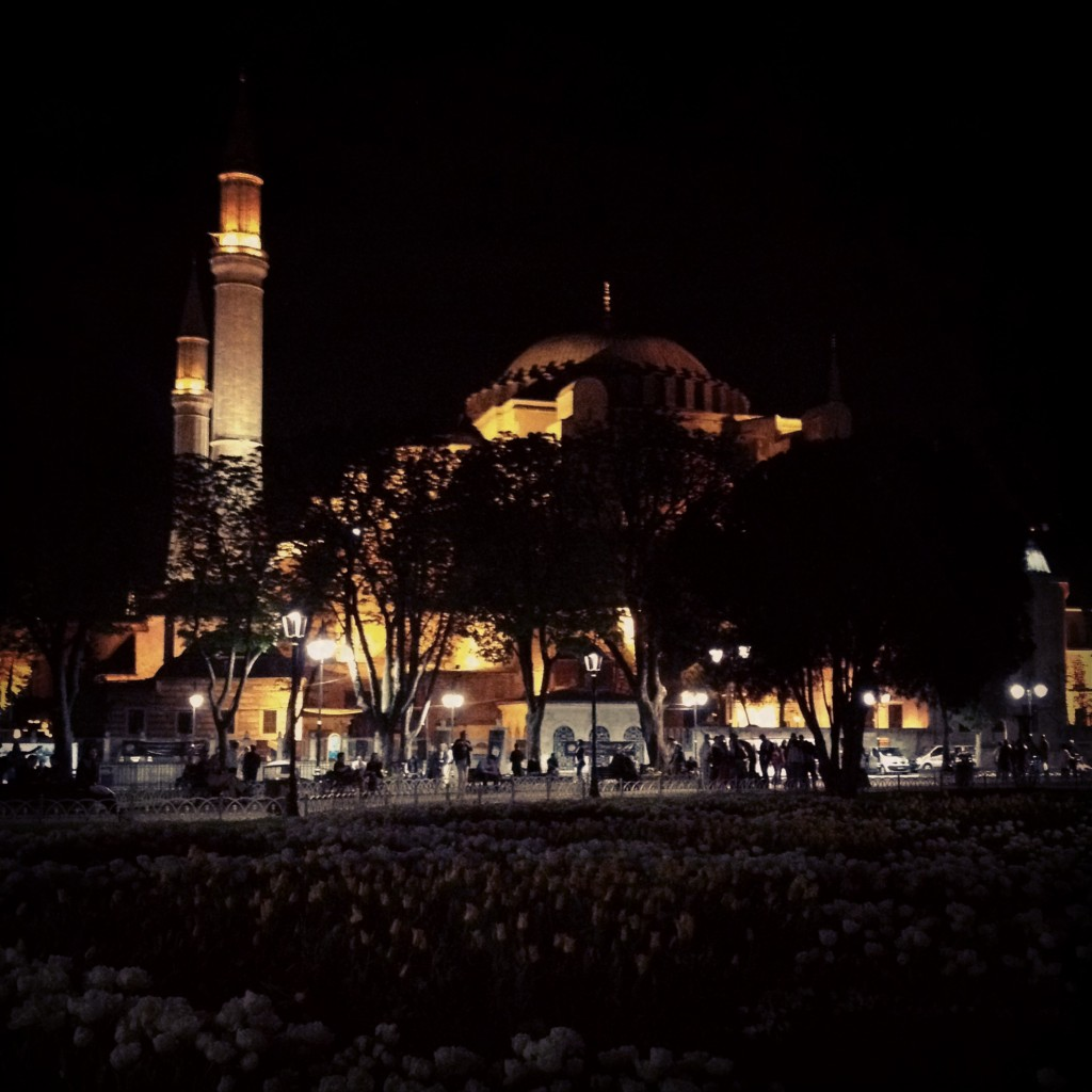 The Hagia Sophia at night