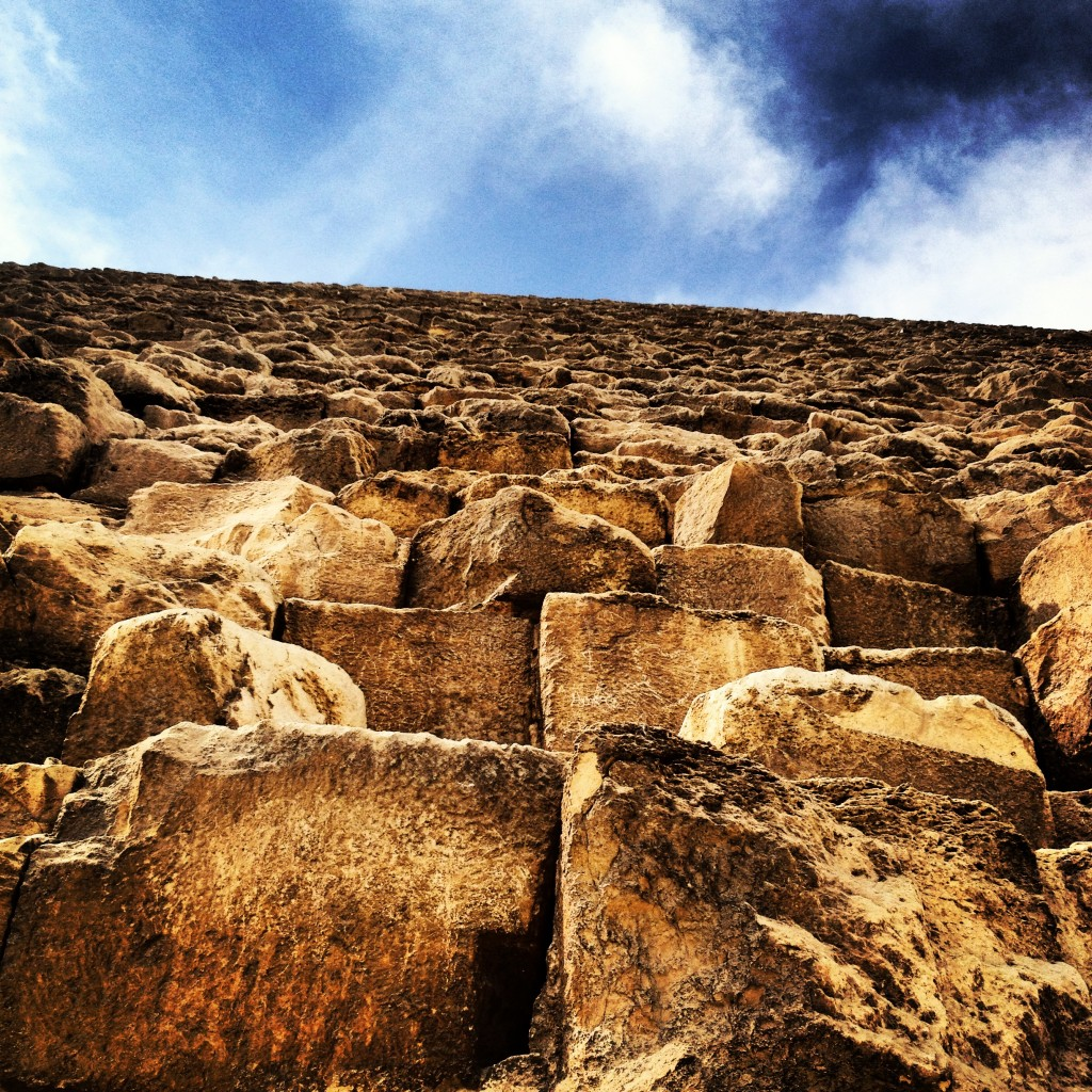 The Great Pyramid, view from the foot