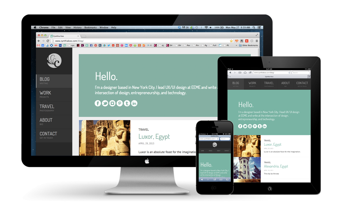 Responsive Design   Desktop, tablet, mobile versions